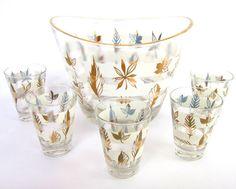Vintage Anchor Hocking Starlyte Glassware Set