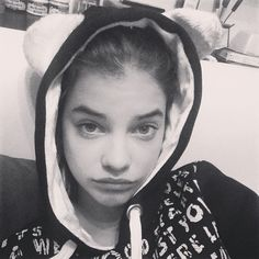 Barbara Palvin - maybe my favourite Barbara picture ..that expression! Barbie Panda Head has got a sore head and isn't feeling well..  Oh she's  so adorable! <3<3<3