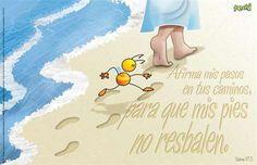 Salmos 17:5 Sustenta mis pasos en tus caminos, Para que mis pies no resbalen. ♔