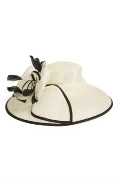 Free shipping and returns on Nordstrom Feathered Sinamay Hat at Nordstrom.com. Floaty feathers and a gorgeous flower accent the crown of a breezy sinamay hat.