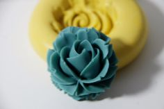 0025Large Rose Cabachon Silicone Rubber Flexible by MasterMolds, $5.00