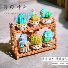 3d cacti with perler