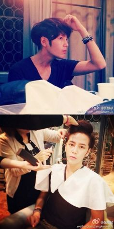 Posted by: The Eels Family Official Bulletin 11-17-13 cr:starcast [TV Report=Park Sul-i] Jang Keun-suk revealed his new hairstyle through his SNS.Jang Keun-suk posted two photos on Weibo (Twitter, Chinese Version) that portray the transformation process of his hair.Jang Keun-suk cut his long hair which he maintained for quite a while. In the first photo , Cr:-vt- , @theeelsfamily Cr: http://www.facebook.com/theeelsfamily Labels: jang keun suk, starcast, Weibo