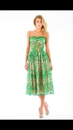 Natural designs -forest/green-dress-
