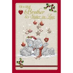 Great Brother and Sister in Law Me to You Bear Christmas Card £3.59
