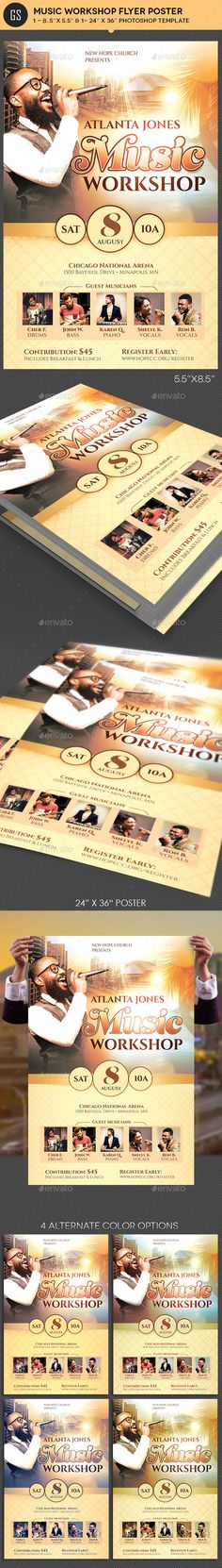 Church Concert Flyer Template Bundle  Concert Flyer Flyer Template