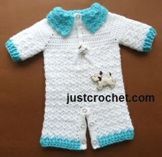 Free baby crochet pattern all in one suit usa