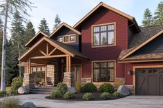 Beautiful deep red siding adds a ton of curb appeal! AND it will never fade. Click through for more siding inspiration.