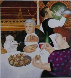 The Official Beryl Cook site - offering Beryl Cook's original paintings, prints… Cook Art, Beryl Cook, Printed Portfolio, Plus Size Art, Art Through The Ages, Fat Art, English Artists, Naive Art, Couple Art