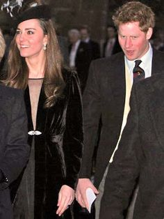 Kate and Harry at a wedding in January 2011.