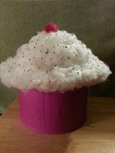 image result for diy girls school valentines box - Cupcake Valentine Box