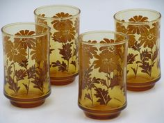 I used to drink OJ in the morning in glasses just like these. I think my mom might still have one or two.