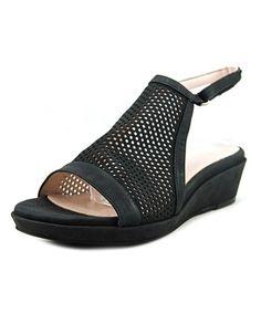d28f28684bec TARYN ROSE TARYN ROSE TISO WOMEN OPEN-TOE SUEDE BLACK SLINGBACK SANDAL.   tarynrose  shoes