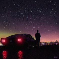 """Chromatic Horizon"": The Superb Neon-Noire Art By Tony Skeor – Design You Trust"