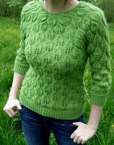Spring Leaves | Agnes Kutas Knitwear Design Spring Leaves is knitted in the round from the bottom up – if seaming is not your favourite activity, you will love this project.