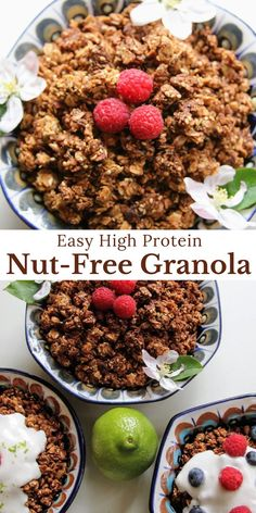 We know some people just aren't fans of almonds, pecans, and their nutty friends. Vegan Baked Oatmeal, Vegan Oatmeal Cookies, Vegan Overnight Oats, Baked Oatmeal Recipes, Oat Flour Recipes, Vegan Recipes, Pecans, Almonds, Vegan Baking