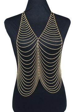 Rihanna Fashion Women Body Multilayer Chain - http://hiphopboutiques.com/product/n2016031651-rihanna-fashion-women-body-chain-multilayer-pendant-bikini-chain-gold-chain-necklace-jewelry-top-quality/