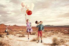 Les #enfants du #vent #désert #ocre #liberté #mode #kids #fashion Printemps été 2014 Shooting Catimini #Catimini