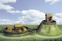motte and bailey castle - Google Search