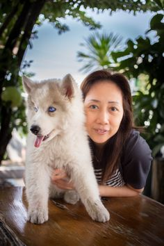 Haru husky & Mom