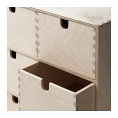 MOPPE Minicómoda, contrachapado abedul - 31x18x32 cm - IKEA