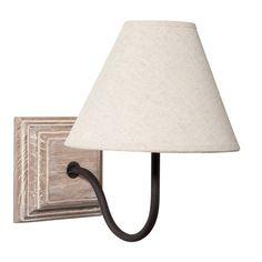 Lámpara de pared de madera y tela crudo Al. 25 cm HORTENSE
