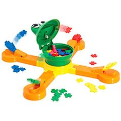 Mr. Mouth and over 7,500 other quality toys at Fat Brain Toys. In the center, Mr. Mouth, the big-mouthed frog, spins around and around with wiggling eyes as his mouth opens and closes. He's hungry, frantic, and it's up to you to feed him his flies.