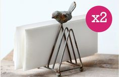Rusted-Feel Metal Mail Holders - Decor Steals~Enjoy Today's Steal from DECOR STEALS
