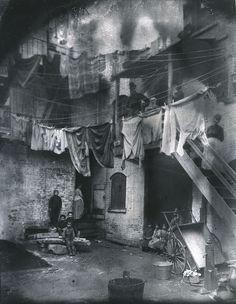 Jacob Riis. Tentment Yard, How the Other Half Lives. Preus Museum via Flickr.