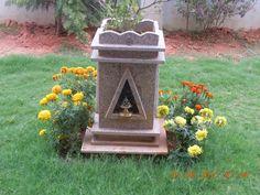 - Thulasi Plant, Mandir Design, Building Elevation, Pooja Rooms, Plant Design, Home Decor Kitchen, Bedroom Wall, Goddesses, Interior Styling