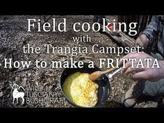 Field cooking with the Trangia campset: how to make a frittata. Tasting a cowboy coffee Trangia Stove, Bushcraft Skills, Survival Equipment, Frittata, Clever Tips, Outdoor Cooking, Italian Recipes, Hammock, Tasty