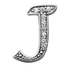 Initial J Round Diamond Necklace Pendant 0.23 tcw. in 14 Karat White Gold