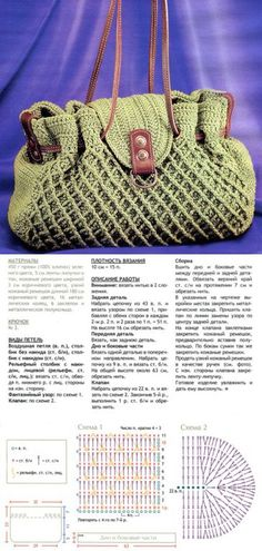 Сумка крючком. Модель 2011 года. Leather Notebook, Leather Books, Leather Journal, Handbag Patterns, Bag Patterns To Sew, Crochet Handbags, Crochet Purses, Modern Crochet Patterns, Handmade Bags