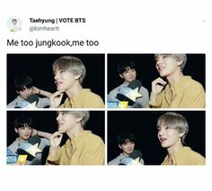 Jungkook and V from BTS Pinterest/QxBoss