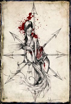 Justice in Chaos by ShawnCoss.deviantart.com on @deviantART.. except I want an anatomical heart impaled on the chaos star