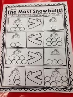 "Activity,""The Most Snowballs"" (from Preschool Wonders)"