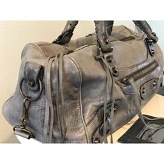 Balenciaga blueish/grey bag. Great classic Balenciaga bag!   Great condition, all the wear is shown in the photos Balenciaga Bags Satchels