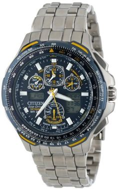 """Citizen Men's JY0040-59L """"Blue Angels Skyhawk A-T"""" Stainless Steel Eco-Drive Watch >>$524.25<< 
