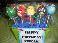 Angery Birds cake pops
