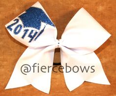 2014 Senior Cheer Bow by MyFierceBows on Etsy, $15.00. 2015 in greem and gold