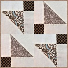 This is another version of a disappearing #shoofly block. Quick and easy  to make. You'll find the directions on my blog