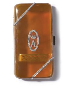 A FRENCH GOLD AND DIAMOND-SET BLONDE TORTOISESHELL CIGARETTE CASE, MAKER'S MARK JD A FLOWER BETWEEN, EARLY 20TH CENTURY