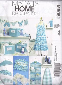McCalls 6051 Craft sewing Pattern Apron by PeoplePackages on Etsy, $3.25