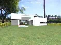 Contra-fachada:  de estilo  por VHA Arquitectura