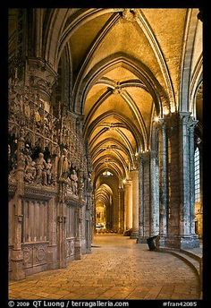 Sanctuary and Ambulatory, Cathedral of Our Lady of Chartres, France