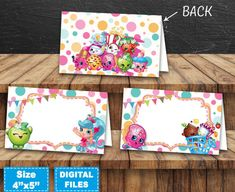 Shopkins food labels, shopkins tent cards, shopkins food tags, shopkins birthday party, shopkins instant download, shopkins party supplies