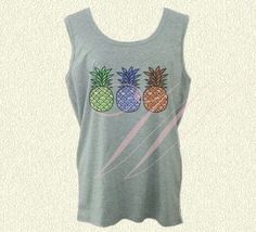 Pineapple tank top L XL gray plus size tank top for Cute Graphic Tees, Plus Size Tank Tops, Grey Shirt, Tank Top Shirt, Printed Shirts, Pineapple, Promotion, Gray, Sweatshirts