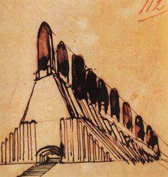 S // A — Italian futurist architect Antonio Sant'Elia,...