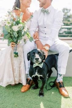 Get your puppers involved in your wedding day! Even if its just for photos! #weddingday #pup #doggo #wedding #firstlook #weddingvibes