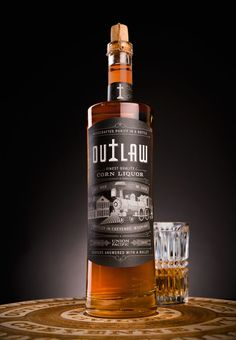 Outlaw Corn Liquor (Concept) on Packaging of the World - Creative Package Design Gallery Beverage Packaging, Bottle Packaging, Whiskey Bottle, Vodka Bottle, Advertising Pictures, Liquor Store, Creative Industries, Packaging Design Inspiration, Whisky